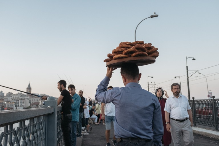 Street Food Vendor on Galata Bridge, Istanbul