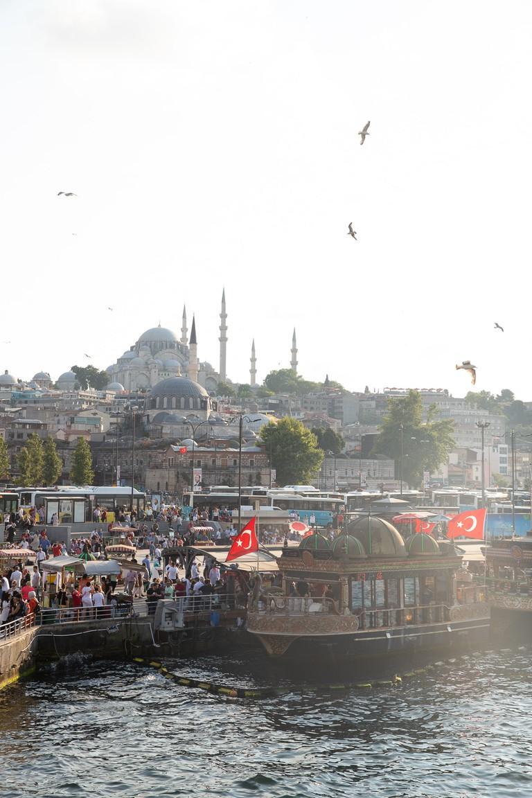 Fish Sandwich Boats near Galata Bridge, Istanbul