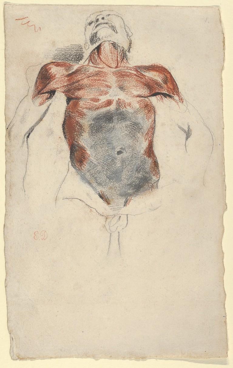 Eugène Delacroix, 'Ecorché: Torso of a Male Cadaver' (ca. 1828)