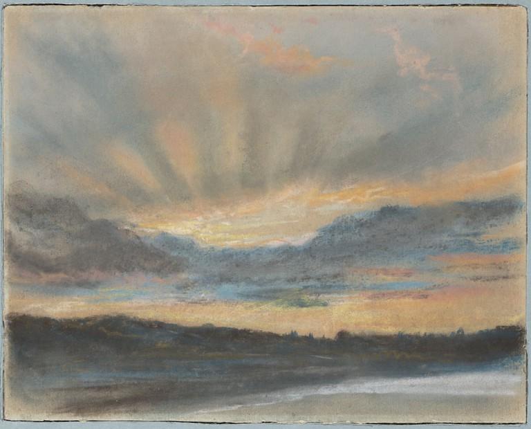 Eugène Delacroix, 'Sunset' (ca. 1850)