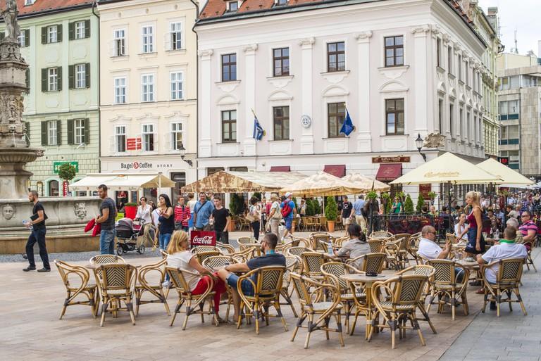 City center of Pressburg, Bratislava, Slovakia