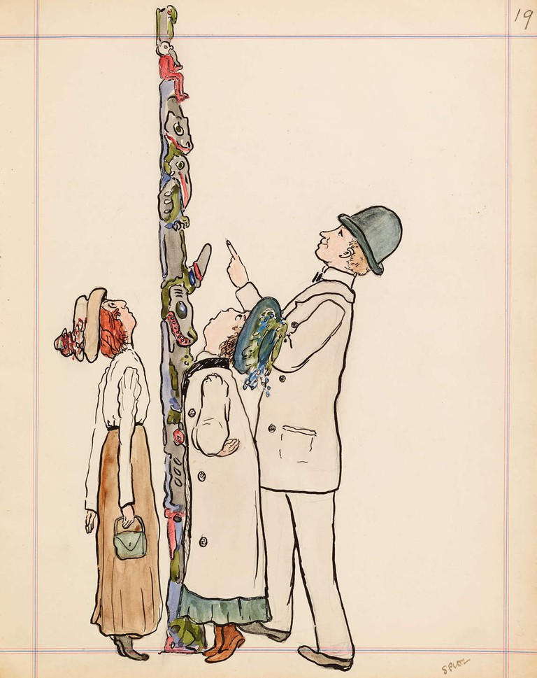 Emily_Carr_-_Totem_Pole_-_illustration-from-carrs-alaska-journal-1907