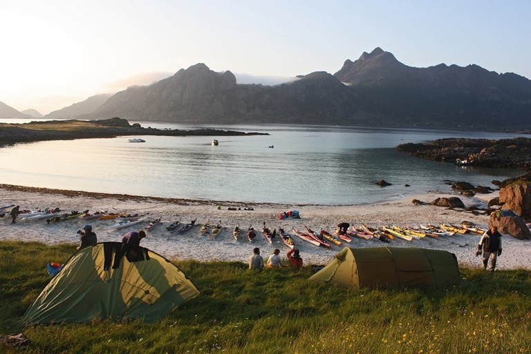 Getting ready for the Arctic Sea Kayak Race, Courtesy of Arctic Sea Kayak Race