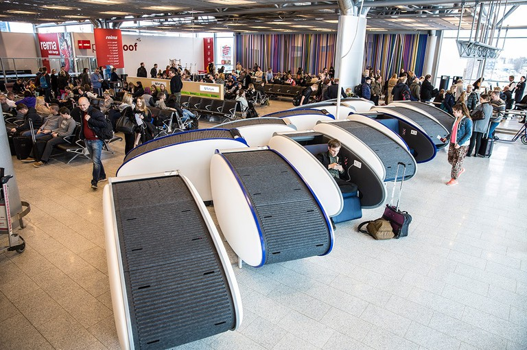 Sleeping Pods at Helsinki Airport.