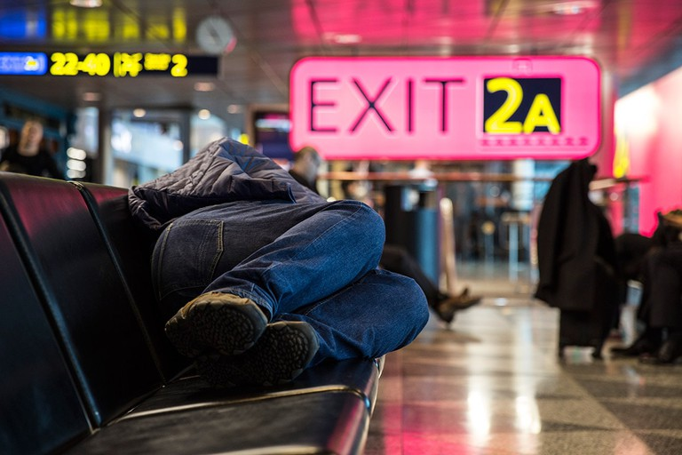 How to have a quick nap at Helsinki Airport.