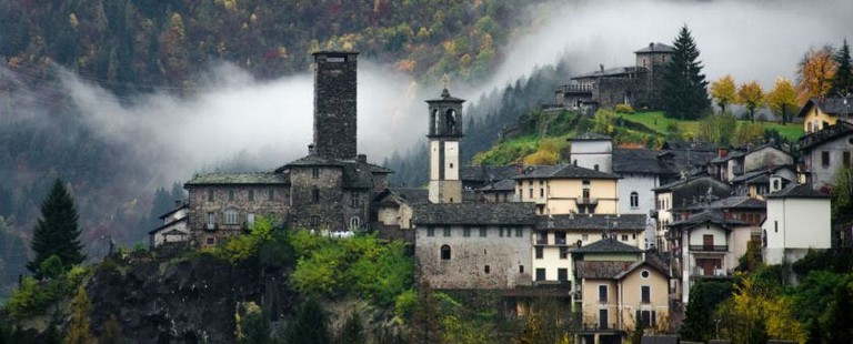 The atmospheric hillside village of Gromo, near Bergamo in Lombardy