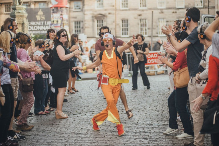 'Guru Dudu Silent Disco Walking Tours', Edinburgh Festival Fringe, Scotland