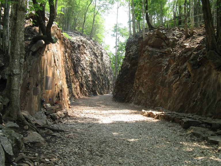 Hellfire Pass memorial museum and walking trail on the original construction site of the Death Railway