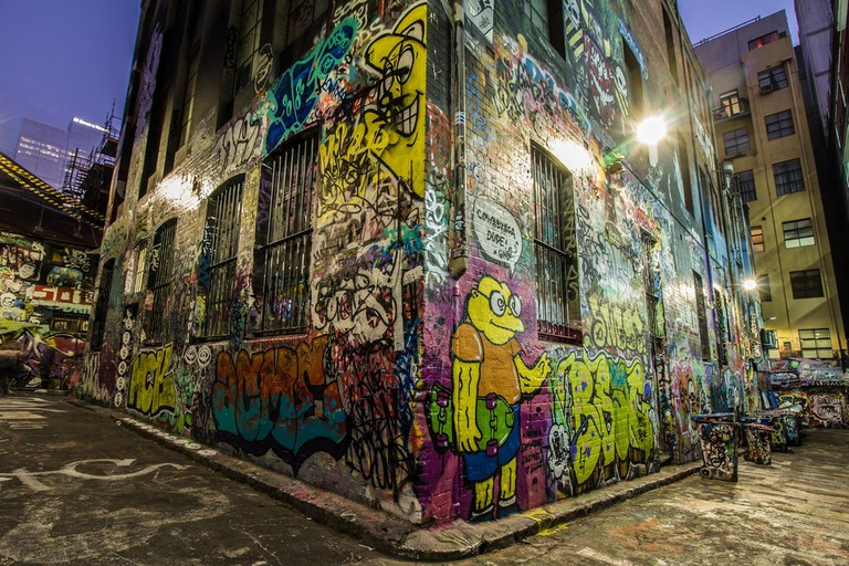 Hosier Lane in Melbourne © Filipe Castilhos / Flickr