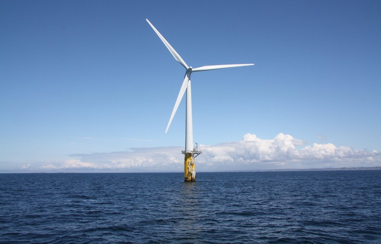 One of the Hywind floating wind turbines.