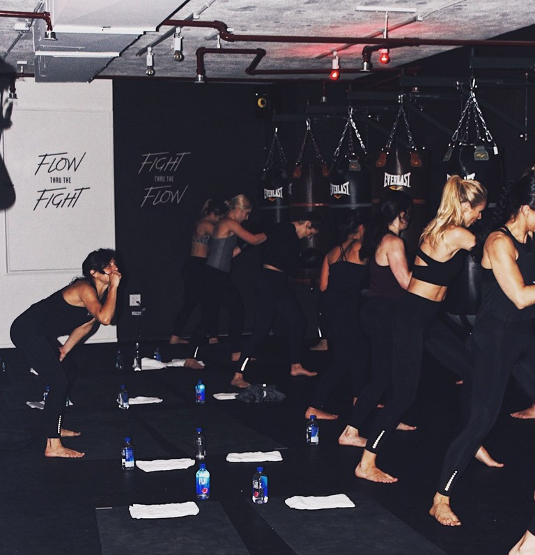 Box + Flow combines boxing and yoga