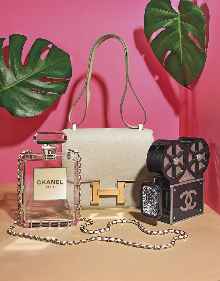 Handbags by Chanel and Hermès