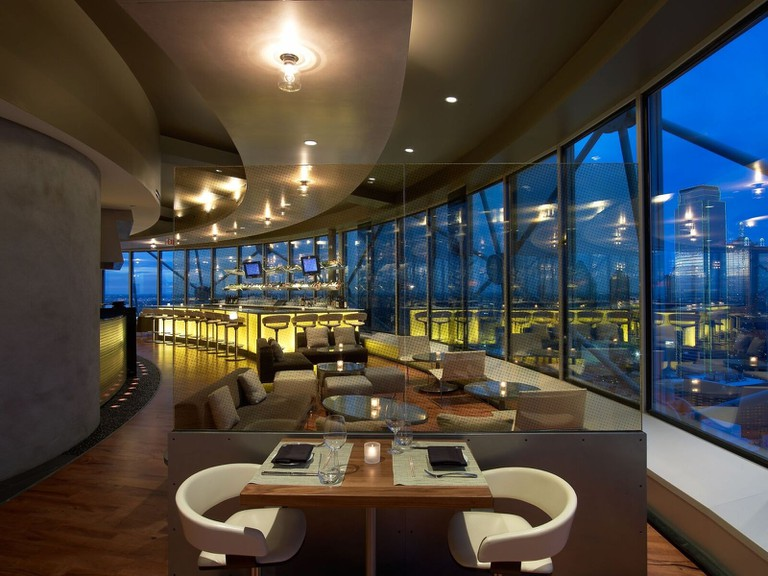 Reunion Tower is a romantic restaurant located high above Dallas