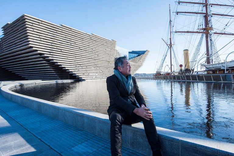 Architect Kengo Kuma Visits Completed V&A Dundee In Scotland