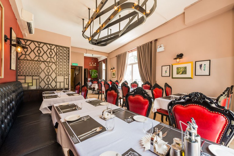Enjoy classic Macanese dishes at La Famiglia in the heart of Taipa Village