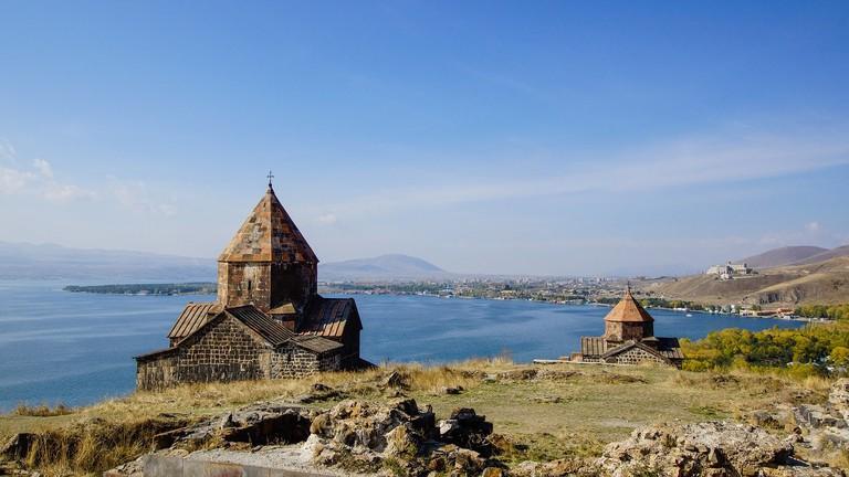 Monastery of Sevanavank on Lake Sevan