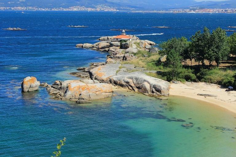 Illa de Arousa, Spain, lighthouse