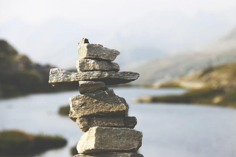 Stone Stack, San Bernardino, Mesocco, Switzerland