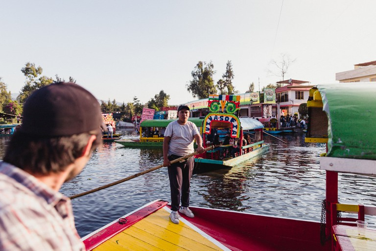 Traveling the Xochimilco-Mexico City-Mexico