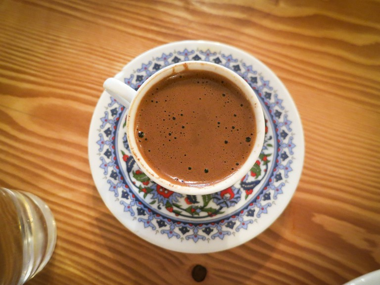 A Cypriot coffee is often offered after lunch to help with digestion