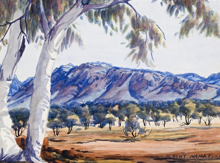 Painting of the MacDonnell Ranges by Albert Namatjira © Leonid Ll / Flickr