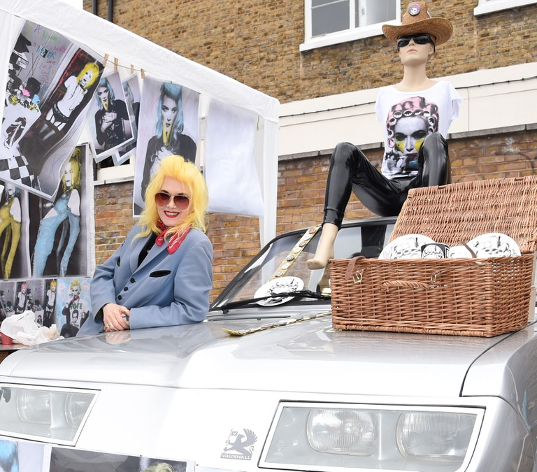 Pam Hogg at the Art Car Boot Fair 2015