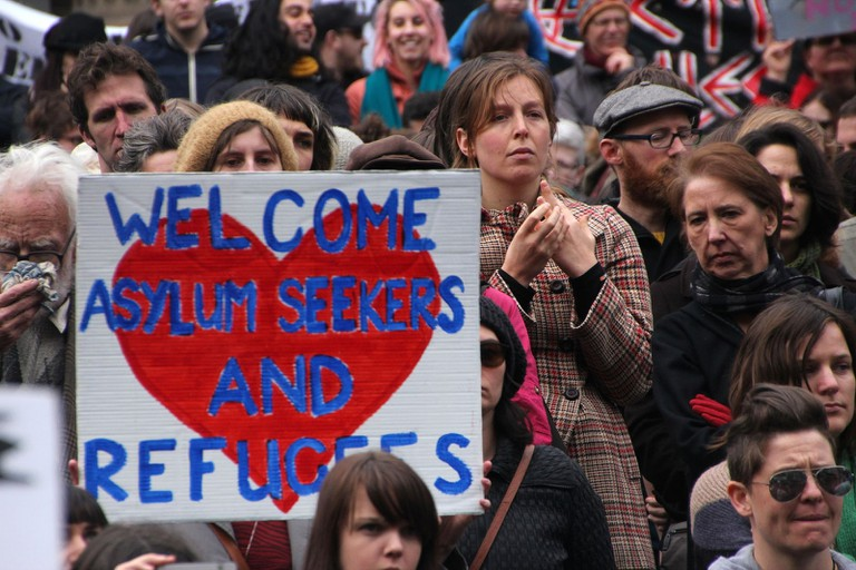 Protest in Melbourne for the humane treatment of refugees © Takver / Flickr