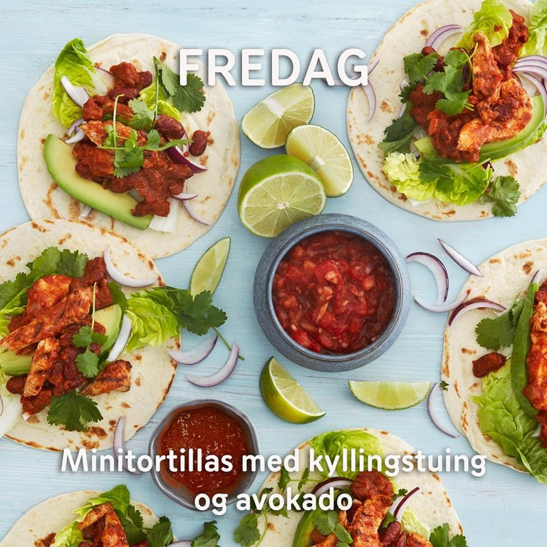 Rema 1000, one of Norway's biggest supermarkets, suggests tacos for Friday