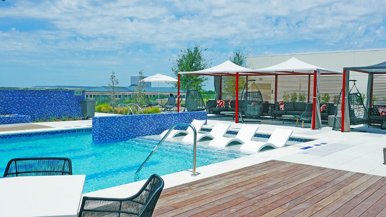 Renaissance Dallas is known for their rooftop pool and Asian and Western decor