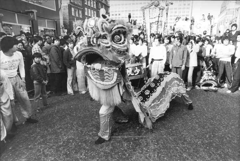 Chinese New Year Celebrations in London's Chinatown, 1980