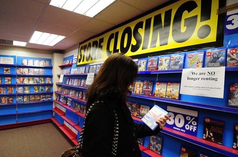 Blockbuster video rental store