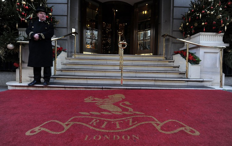 The Ritz Hotel in Picadilly, London