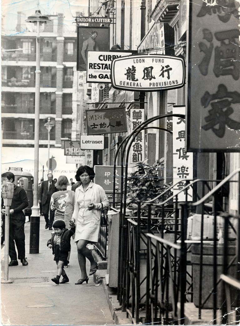 Gerrard Street Soho In London's Chinatown District, 1971
