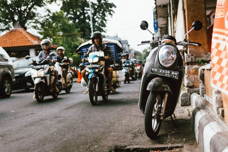 Rent a scooter to get the most out of Bali.