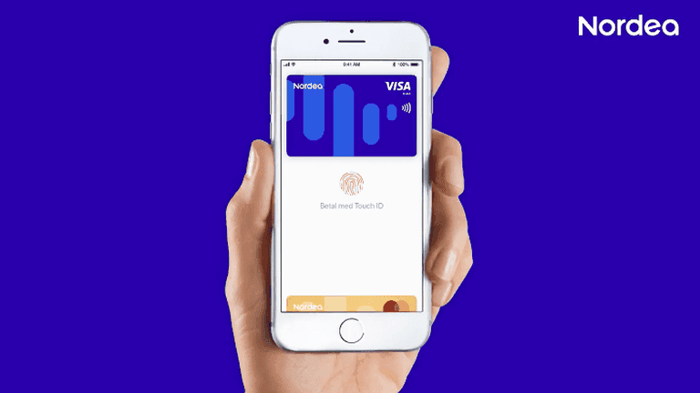 One of the Apple Pay options for Nordea customers