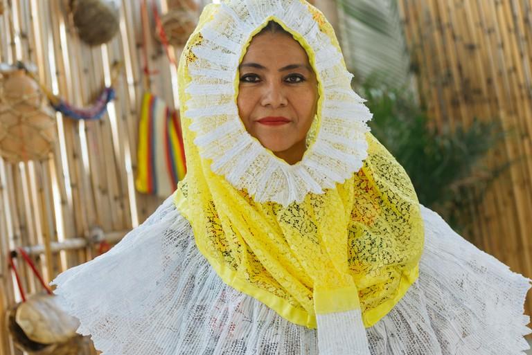 Traditional Tehuana dress designer-Mexico