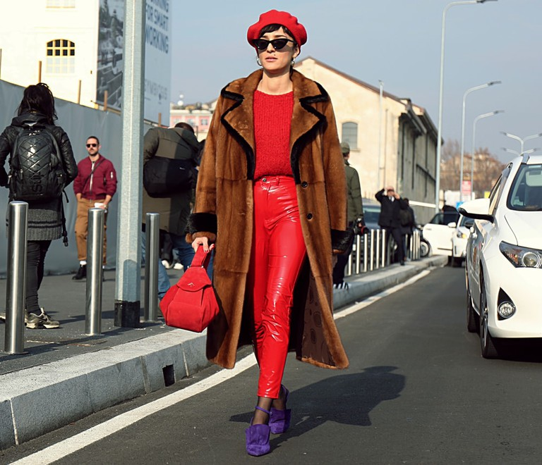Eleonora Carisi on the street during the Milan Fashion Week
