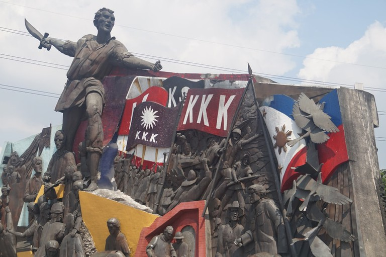 A statue of national hero Andres Bonifacio, Manila, Philippines.
