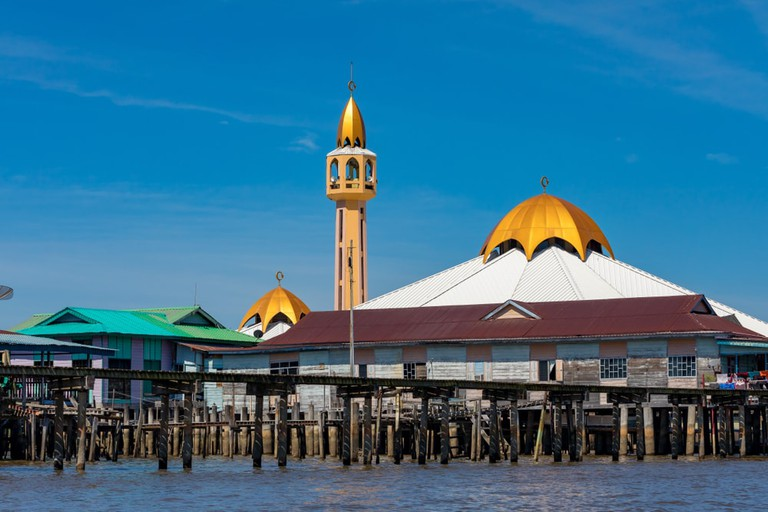 One of Kampong Ayer's stilted mosques above the river