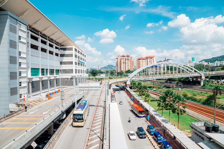 Bus station TBS Terminal Bersepadu Selatan and Bandar Tasik Selatan Station