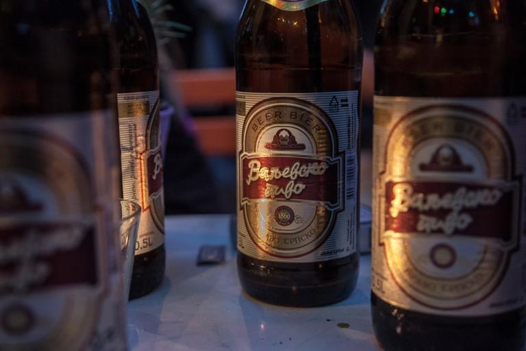 Valjevsko Pivo Beer, Belgrade, Serbia.