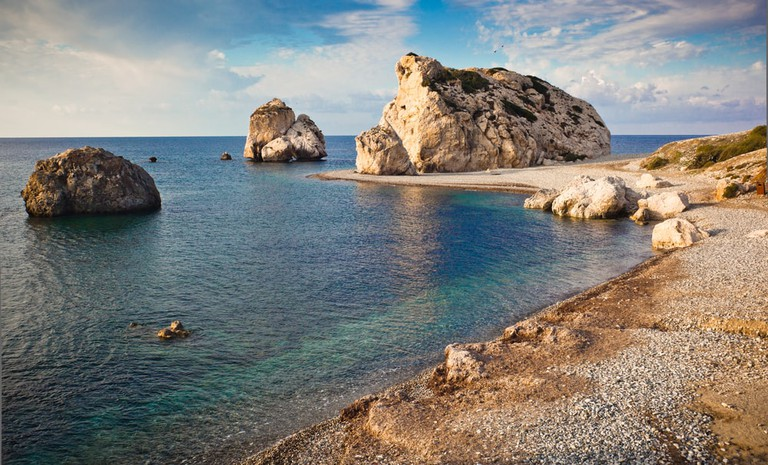 Opposite the mythical Aphrodite's Rock is a souvenir shop selling everything you might need