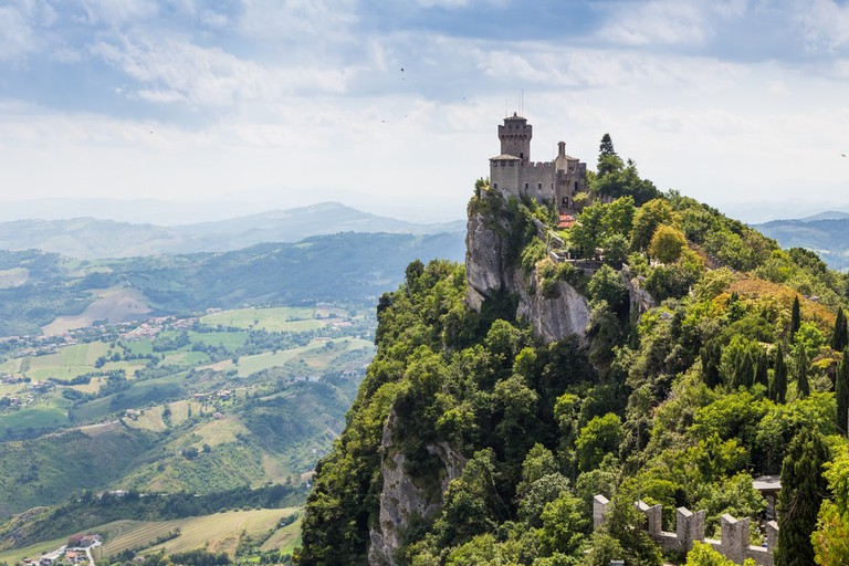 One of the three fortress towers in The Republic San Marino | © pavel068/Shutterstock