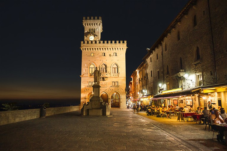 Palazzo Pubblico in the old town of San Marino