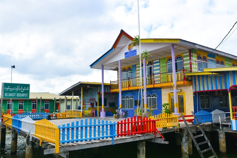 A colourful building in Kampong Ayer