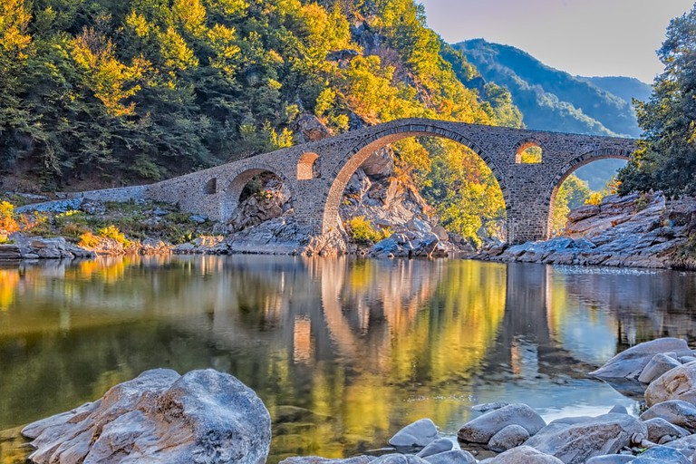 stone bridge near Ardino, Bulgaria.