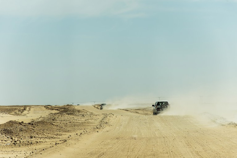 Safari dune bashing, Oman