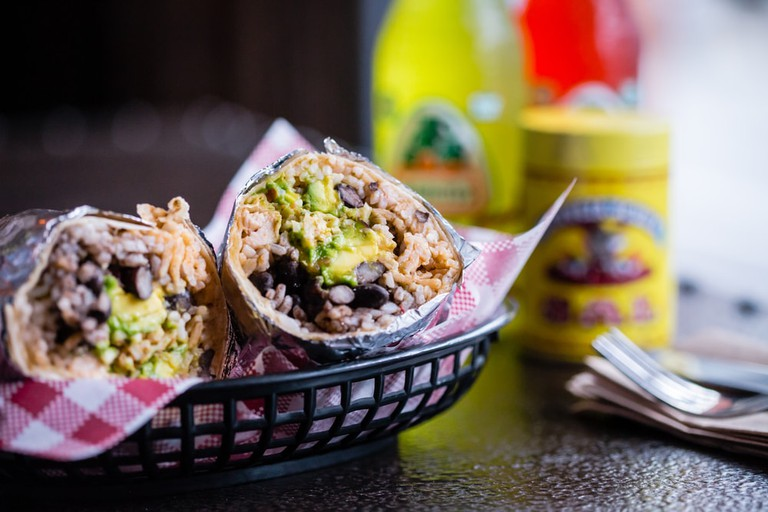 Burrito with Avocado and Black Beans