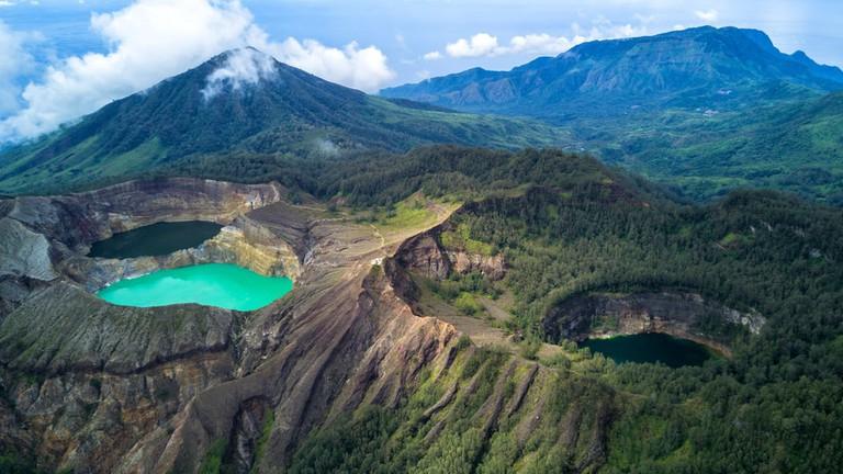 "Tricolor Lake ""Kelimutu"", Flores, Indonesia"