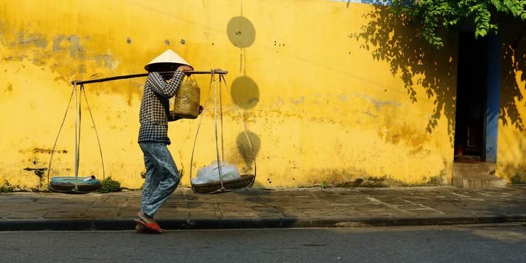 Street seller In Hoi An, Vietnam.